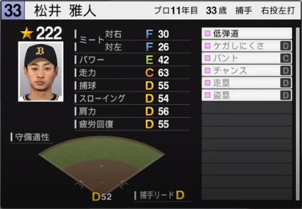 松井雅人_オリックスバファローズ_プロスピ能力データ_2020年開幕版